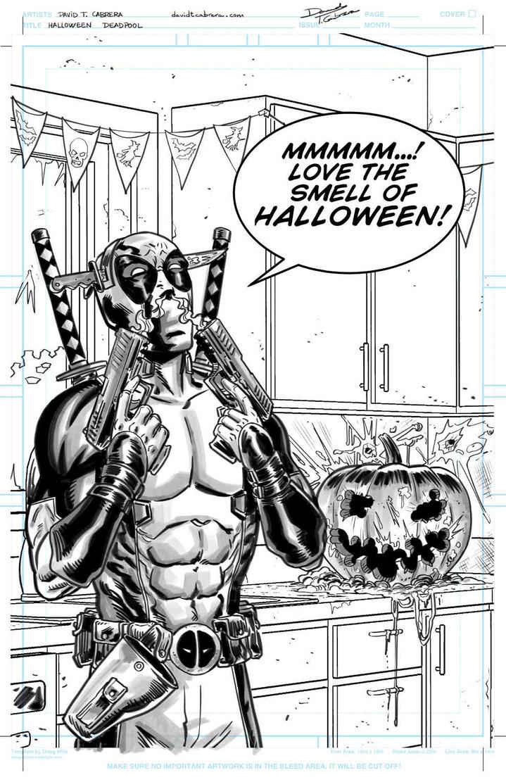 Deadpool Halloween by davidtomas