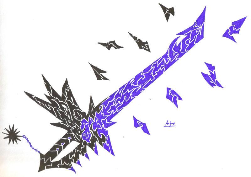 BlackBlue Sword by DrakeSavaan