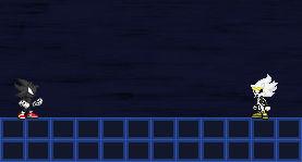 Dark Sonic Vs Light Scourge Sprite Version