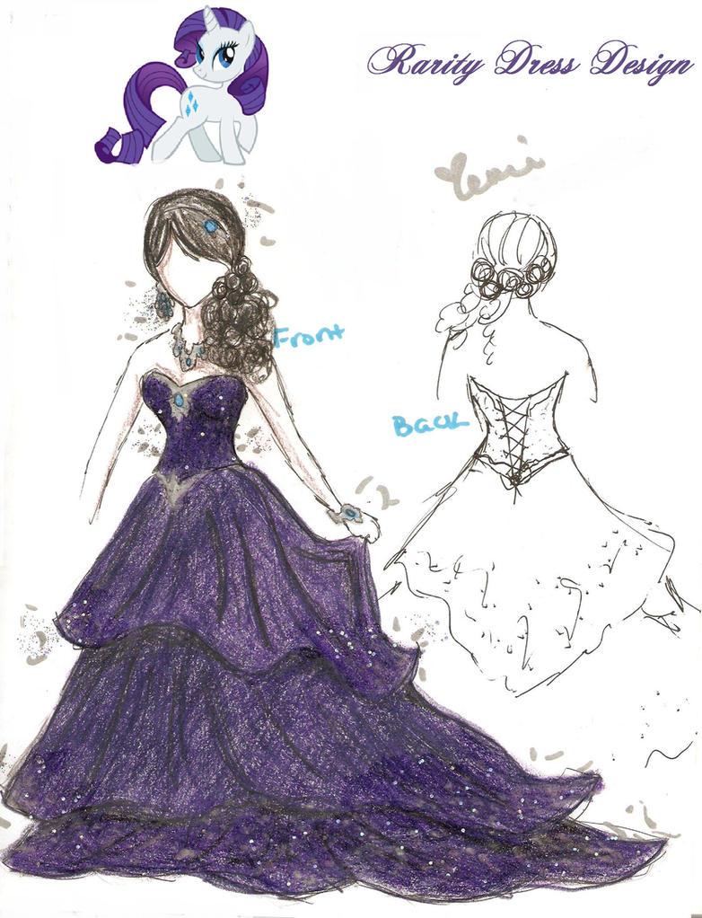 Rarity Dress Design by XeMiChan576 on DeviantArt