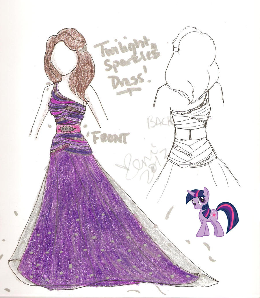 Twilight Sparkle Dress Design By XeMiChan576 On DeviantArt