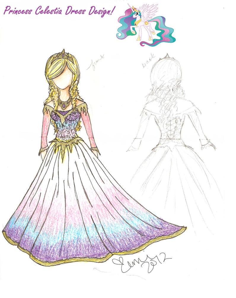 Mlp Celestia Dress Design By Xemichan576 On Deviantart