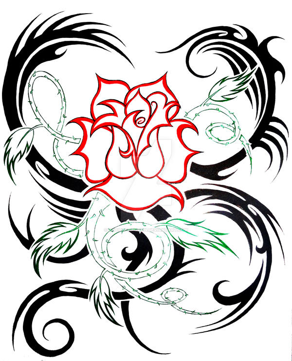 Rose Tribal By Katieconfusion On Deviantart