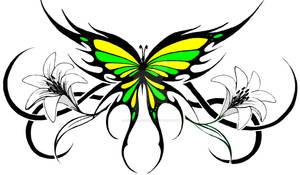 tribal butterfly 2