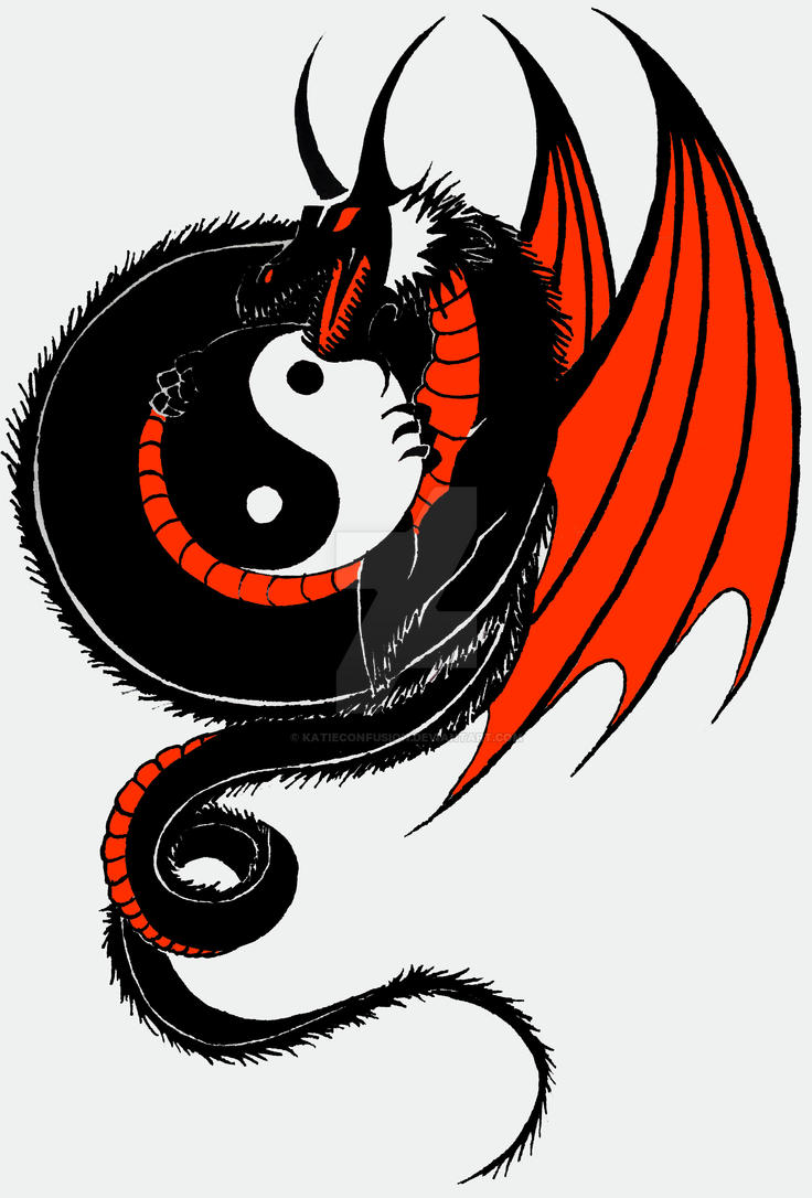 Yin yang dragon by katieconfusion on deviantart for The girl with the dragon tattoo common sense media