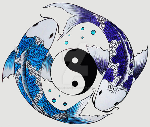 Yin yang koi fish by katieconfusion on deviantart for Koi fish pisces