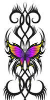 tribal butterfly 3