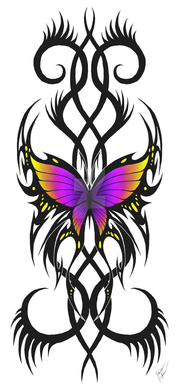 tribal butterfly 3 by KatieConfusion