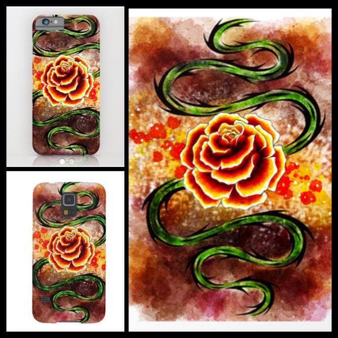 [Rose Whip] phone case designs by KatieConfusion