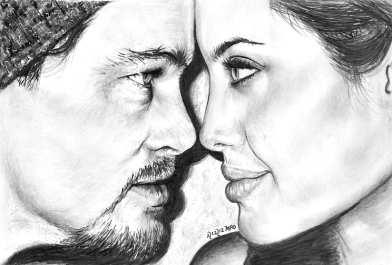 Brad and Angelina by marmicminipark