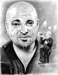 David Draiman from DISTURBED by marmicminipark