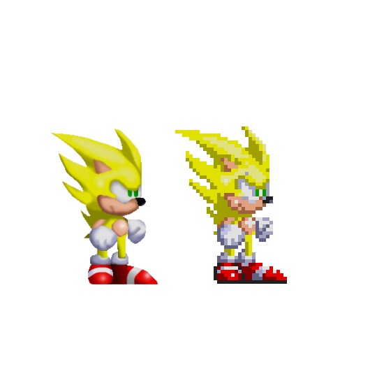 Sonic 3 where his sprite did have green eyes see here for example