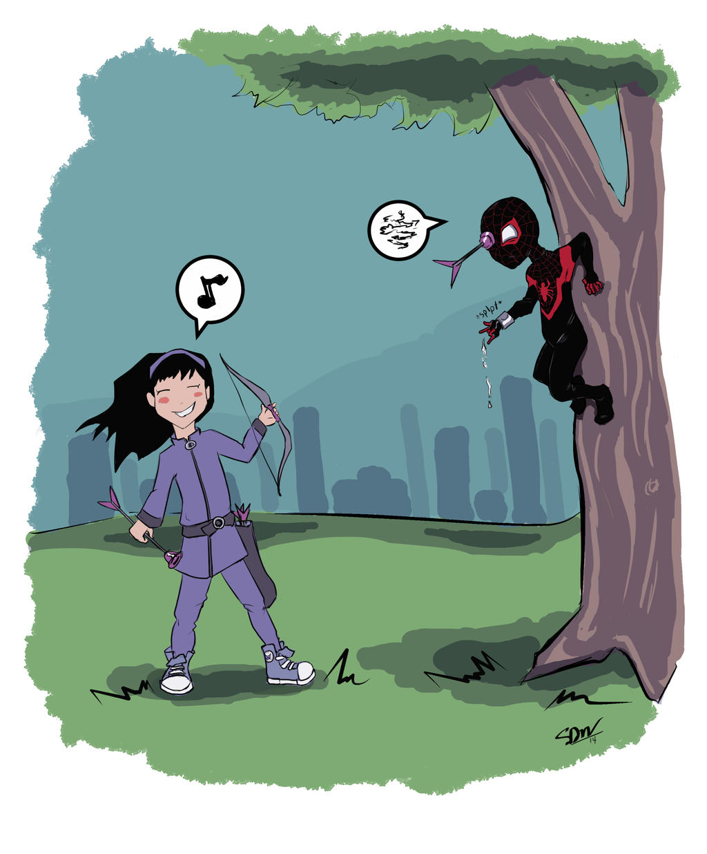 Hawkeye VS Spider-Man ...