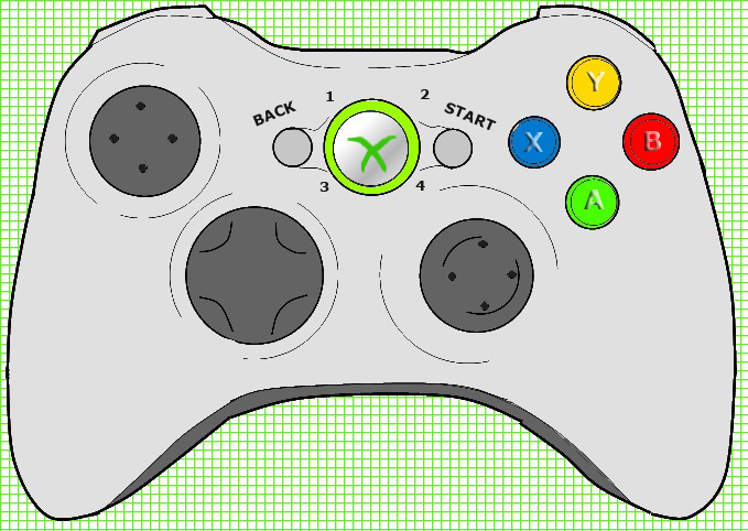 Line Drawing Xbox Controller : Xbox controller by noir the bat on deviantart