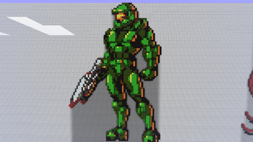 how to build master chief in minecraft