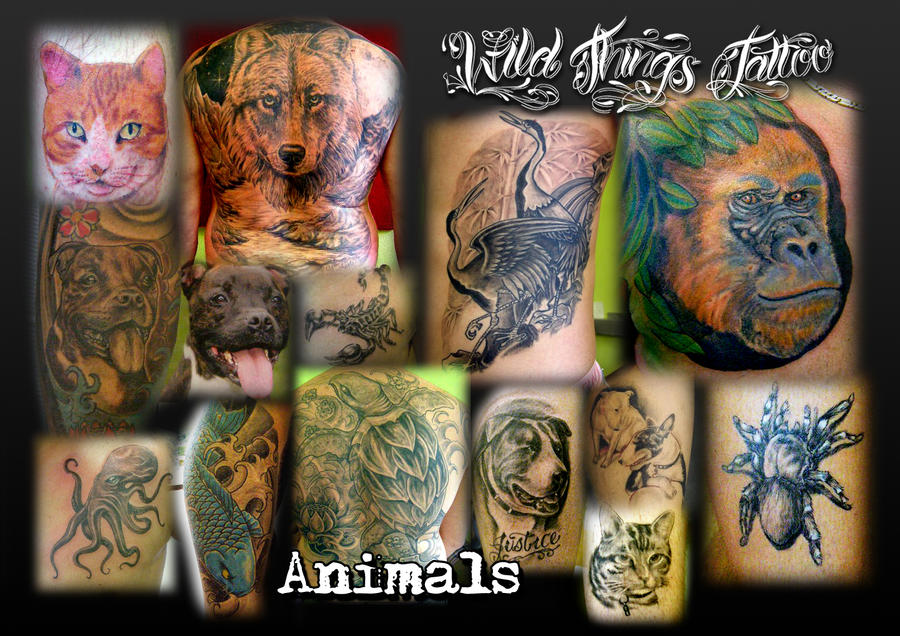 Animal collage by ~WildThingsTattoo on deviantART