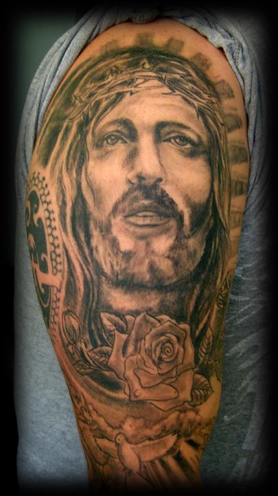 Part of jesus sleeve by wildthingstattoo on deviantart for Tattoos of black jesus