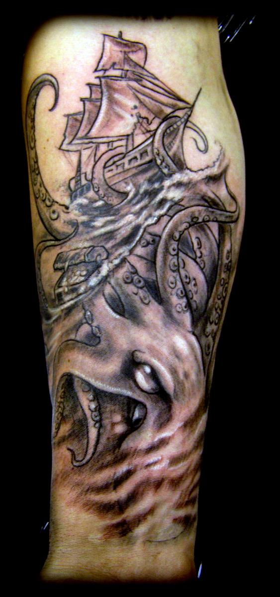 kraken tattoo by WildThingsTattoo on DeviantArt
