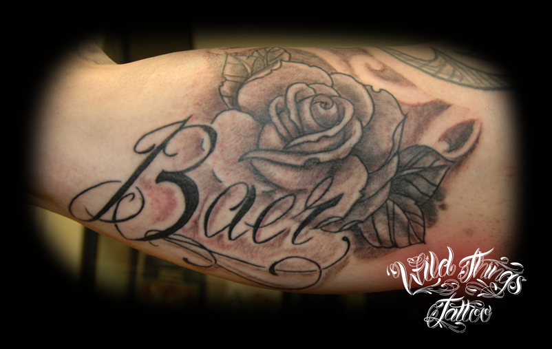 Name with rose by wildthingstattoo on deviantart for Name with rose tattoo