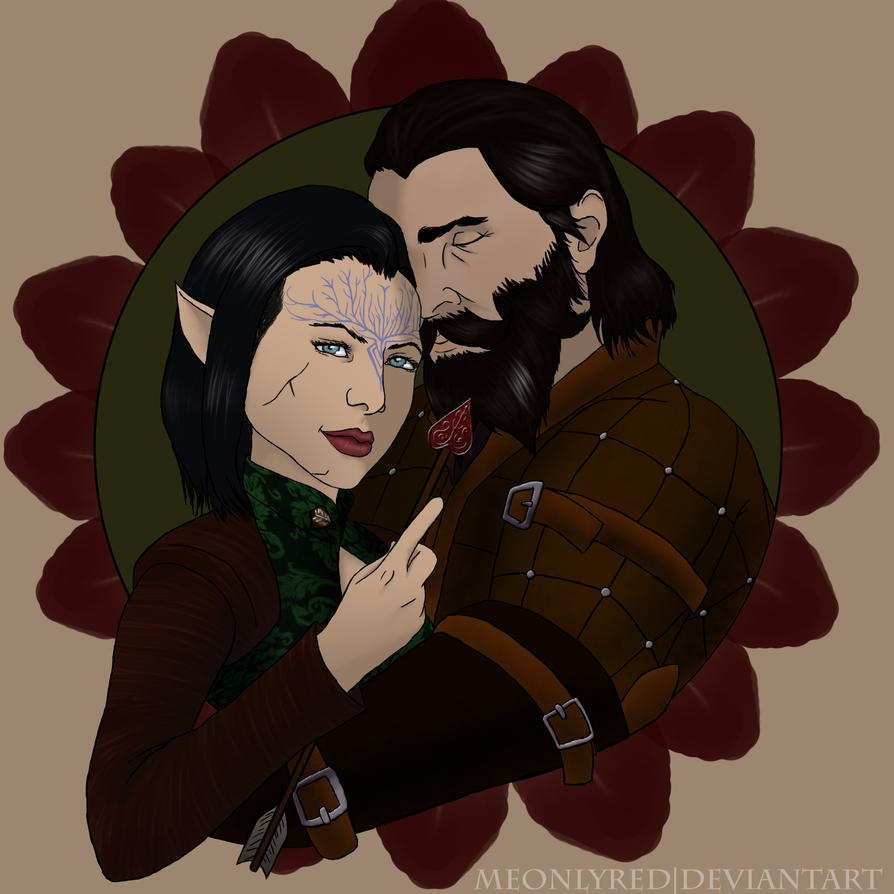 Delyth and Blackwall by meonlyred