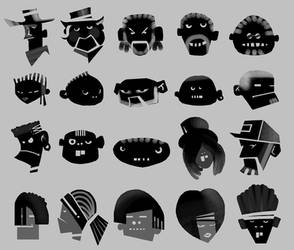 sonyEricson character heads by saruzann