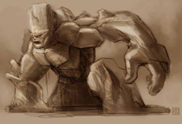 Mud Monster sketch by saruzann