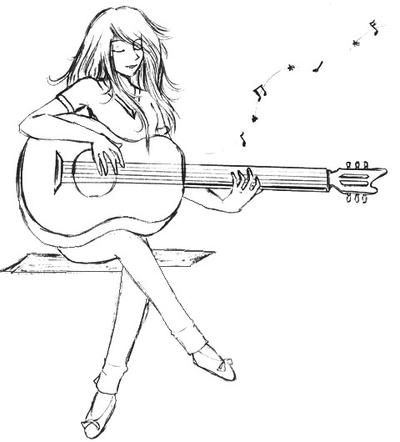 Blue Guitar-Sketch By Glarionac On DeviantArt