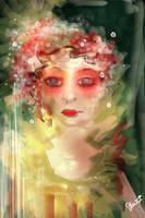 Flowers in her head... by viaviolet