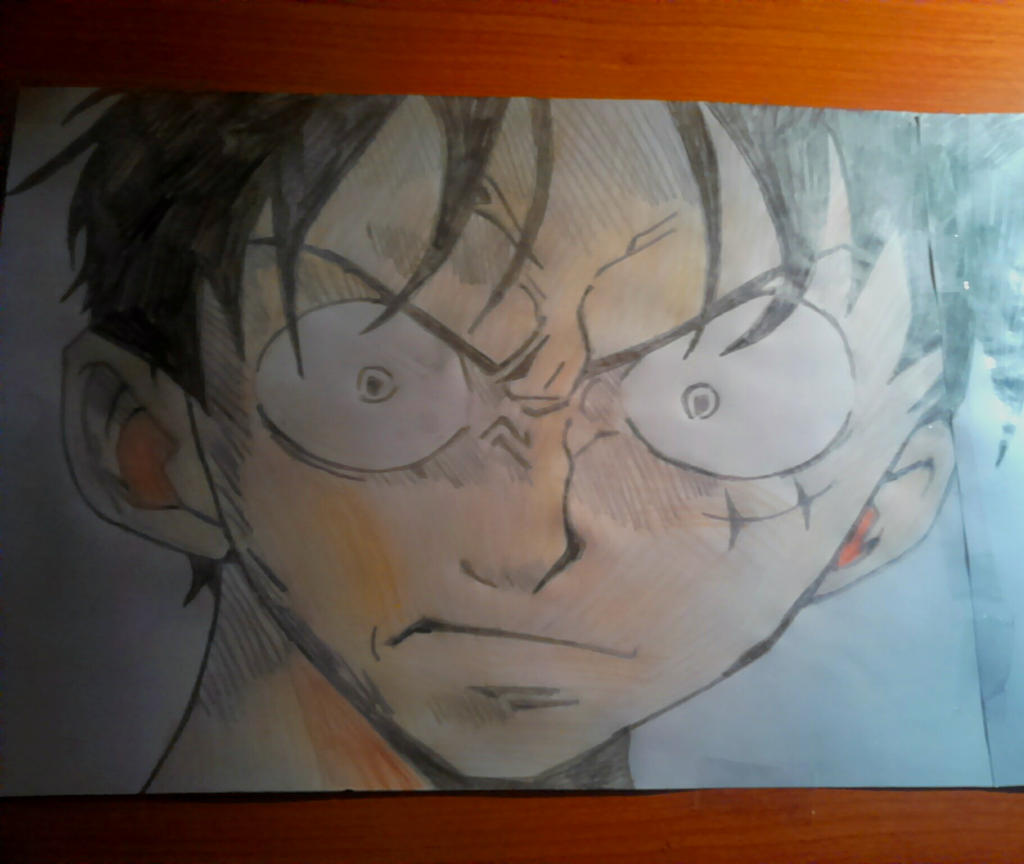 one piece luffy angry by assassingio95 on deviantart