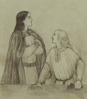 The quarrel of Angrod and Caranthir by Periannart