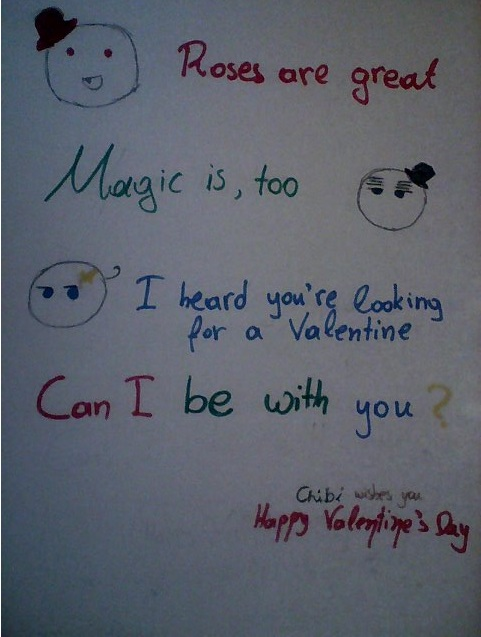 Valentine's Poem with the Magic Trio mochis by ChibiLittleMe