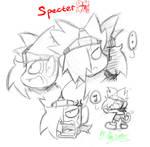 Specter's face.