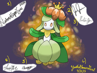 Lilligant signed by awesome LPers by YoshiGamerGirl