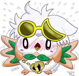 Cute Guzma Rowlet (Collab) by YoshiGamerGirl