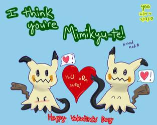 Custom Pokemon Valentine: Mimikyute by YoshiGamerGirl