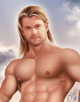 Thor Chris Hemsworth Details by MaleArtist