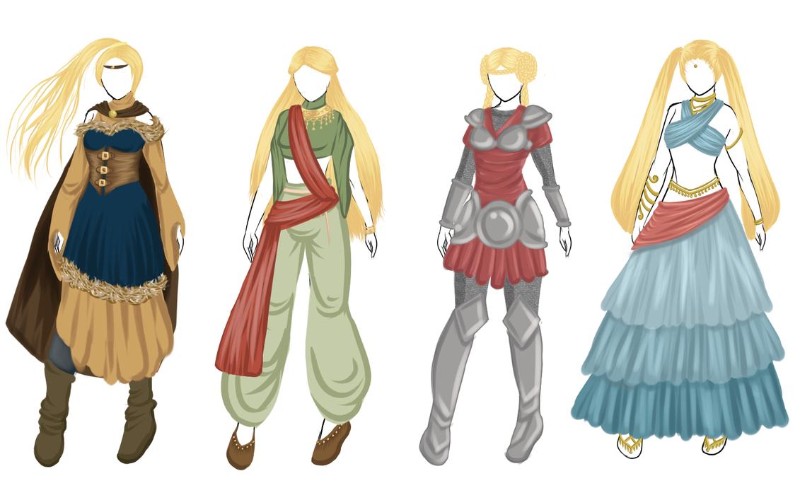 Random Fantasy Fashion by abravelamb