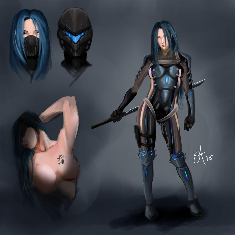 Tech ninja concept by EnvyMachinery