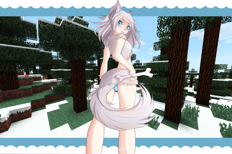 Minecraft Wolf Girl By Mewmisu On Deviantart