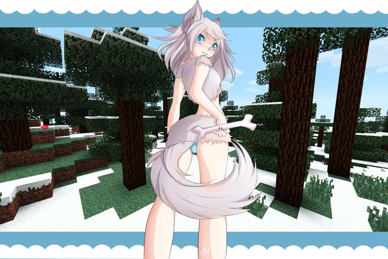 Minecraft Wolf Girl By Mewmisu On Deviantart