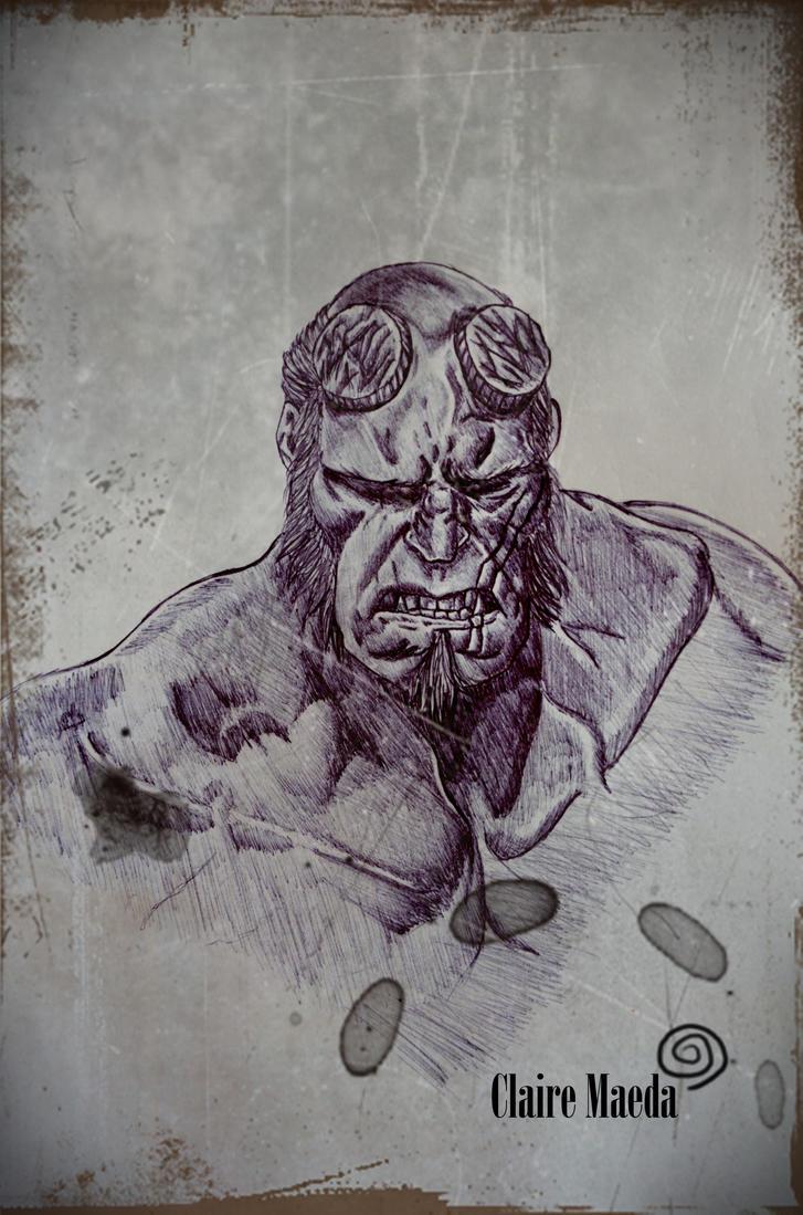 Hellboy by ClaireMaeda