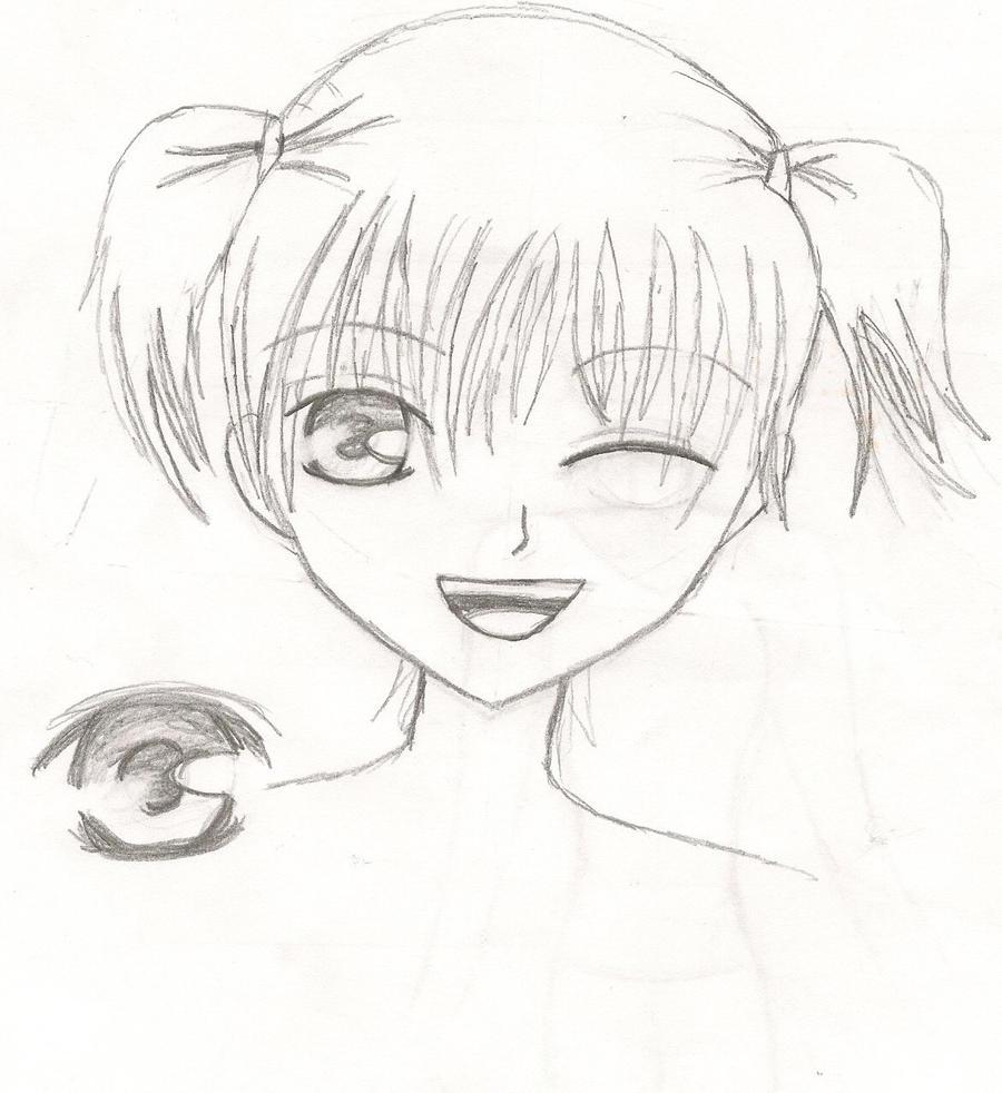 Random cute anime girl by nesssophie on deviantart for Random cute drawings