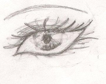 semi realistic eye by NessSophie