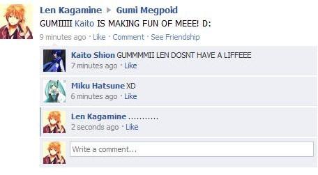 Vocaloid Facebook: No Life by NessSophie