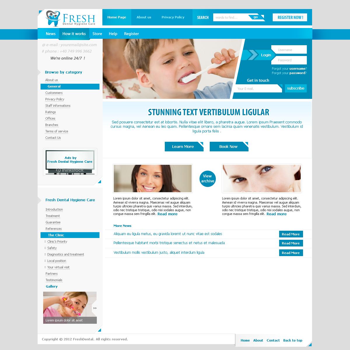 FreshDental [ Dental Hygiene template] by MsT4GFX on DeviantArt