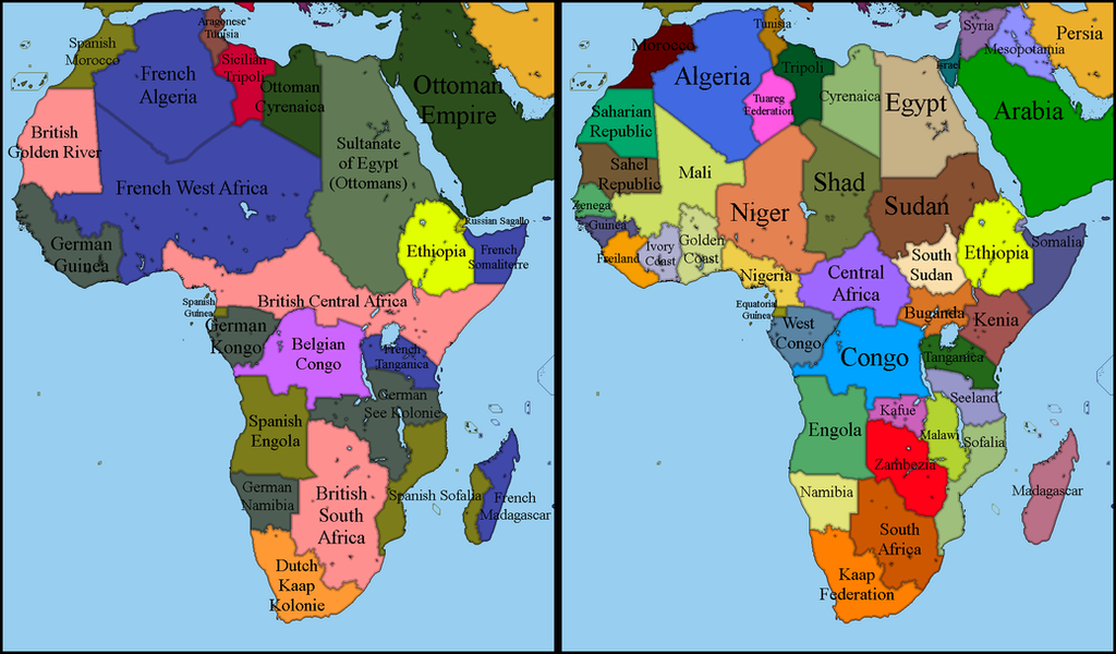 Alternate Africa 1900 2017 by EntrerrianoMaps on DeviantArt