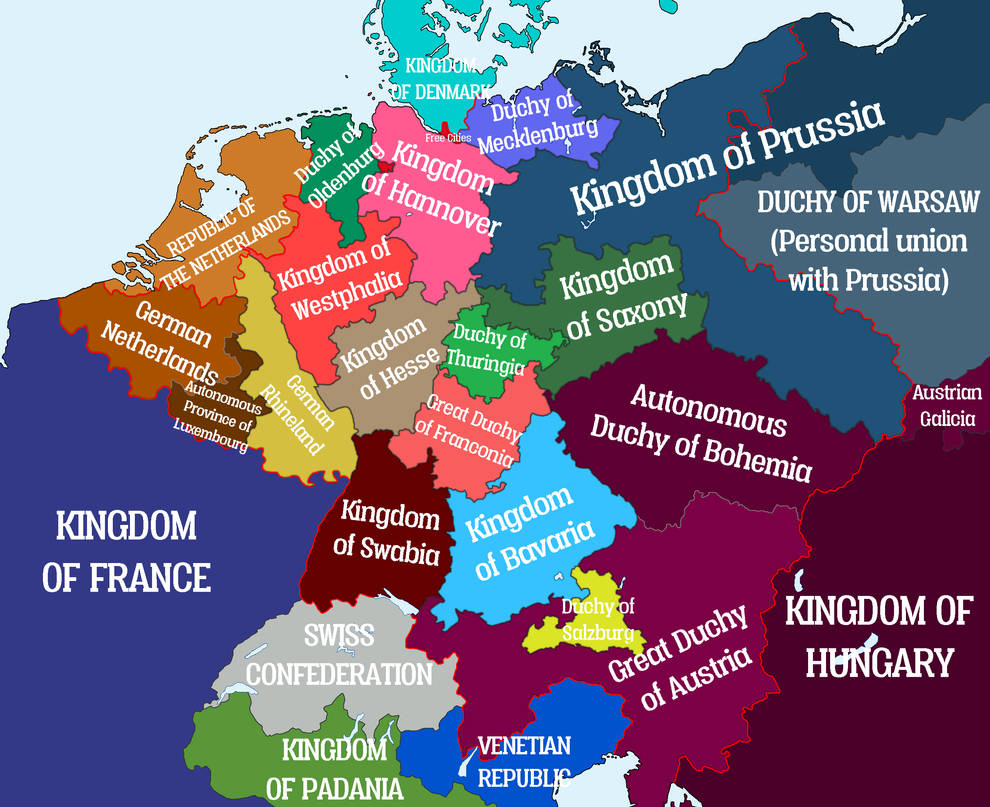 Map Of Germany And The Netherlands.Alternate Germany By Entrerrianomaps On Deviantart