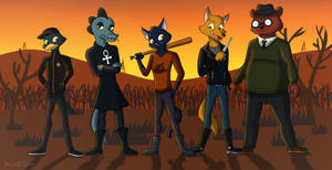 Night in the Woods - The Gang and Germ by JDE10
