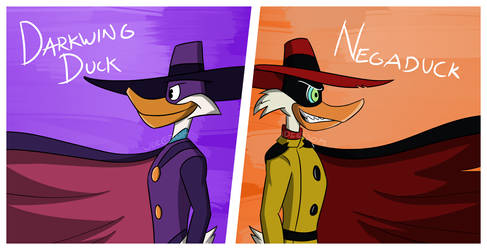 Darkwing and Negaduck by JDE10