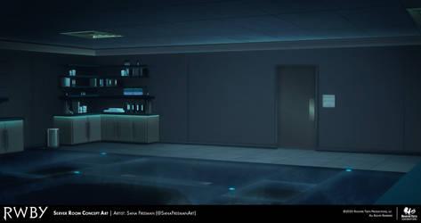 RWBY 7: Server Room Concept Art (Reverse View)